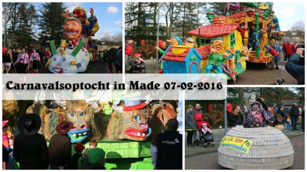 Carnavalsoptocht in Made 07-02-2016(collage)