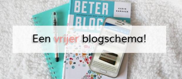 Een vrijer blogschema!