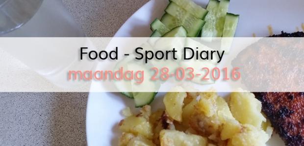 Food - Sport Diary maandag 28-03-2016